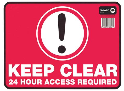 Letter Wall Stickers keep clear signs high quality keep clear stickers
