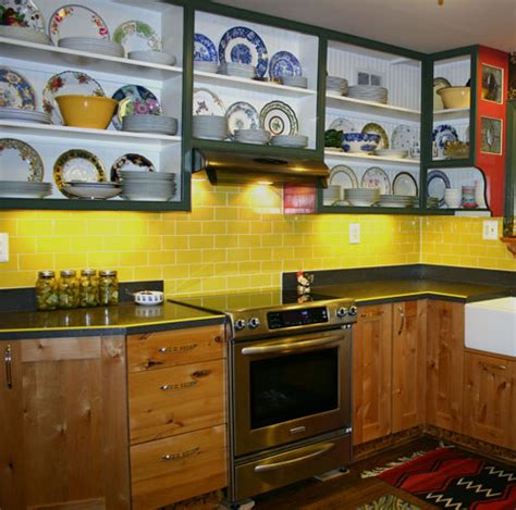 yellow subway tile backsplash mosaic tile backsplash design ideas inspiration for your