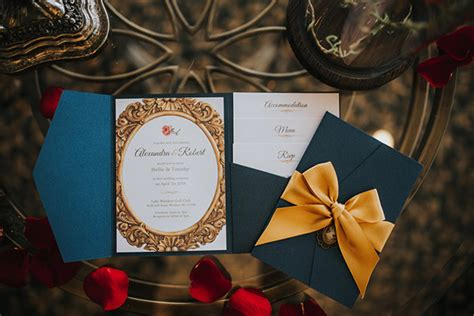 Be Our Guest: Beauty and the Beast Inspired Wedding Ideas   BridalGuide