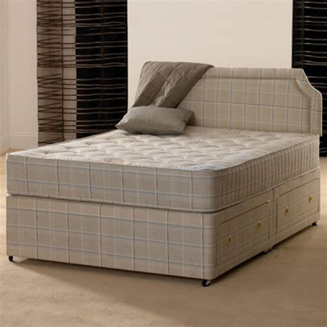 ft small double paris orthopaedic divan bed  mattress