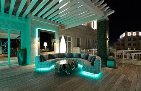 Iluminación moderna para terrazas