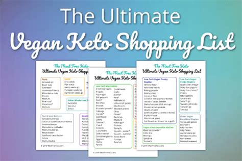ultimate vegan shopping list pdf the ultimate vegan keto shopping list free keto