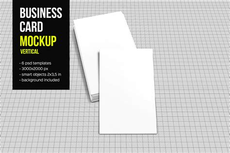 2x3 5 business card template business card mockup vertical product mockups on