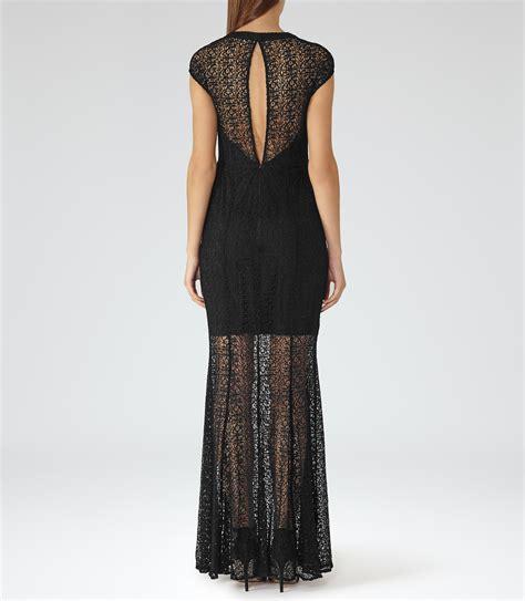 Tami Maxi lyst reiss tami maxi dress in black