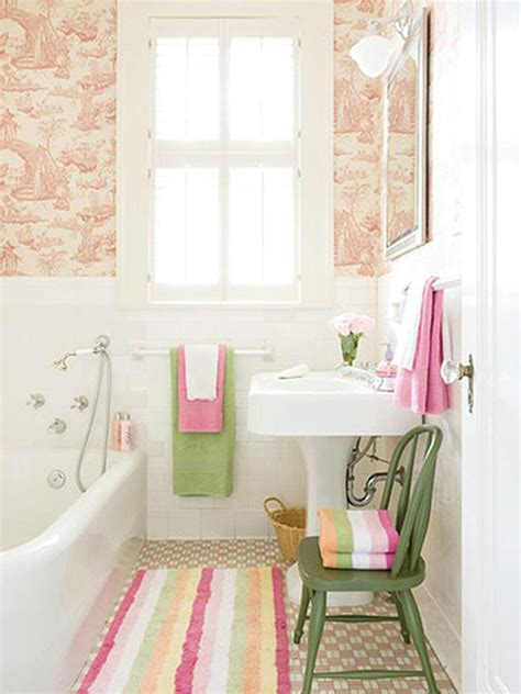 Decorating Ideas For A Pink Bathroom Beautiful Pink Tiny Bathroom Decor