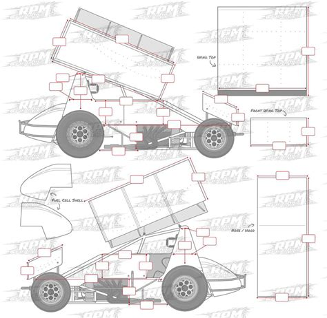 sprint car design template www imgkid com the image