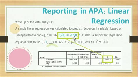 Spss Analysis Report Writing by Interpret Linear Regression From Spss Writeup Results Following Apa Style