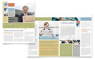 Templates For Publisher by Investment Advisor Newsletter Template Word Publisher