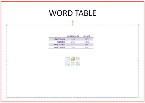 Word Table by How To Insert A Ms Word Table Into Ms Powerpoint Slide