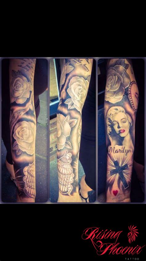 phoenix tattoo convention 2016 marilyn monroe sleeve rising phoenix tattoo