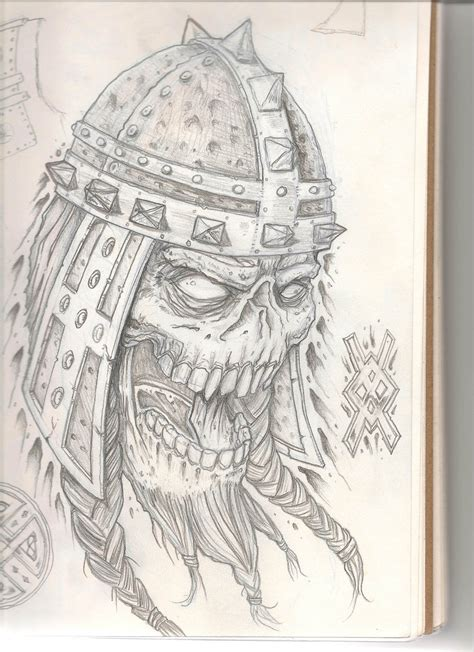 viking skull tattoo designs wip viking skull2 by od1nswrath on deviantart