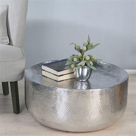 Hammered Metal Coffee Table Hammered Metal Coffee Table