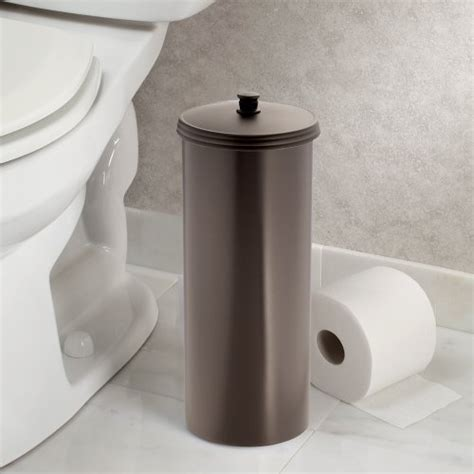 extra toilet paper holder toilet holder paper tissue bathroom roll bronze canister