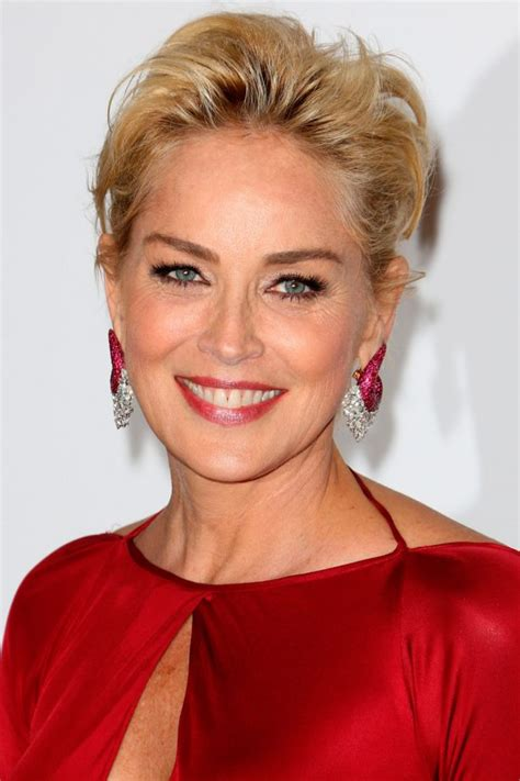 pics of sharon stones hair cut only print out front and back short hairstyles 100 celebrity cuts to inspire your new do