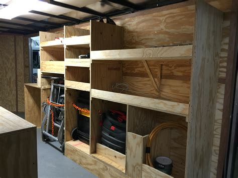 Tool Trailer Organization Trailer Ideas Pinterest Used Cargo Shelving For Sale
