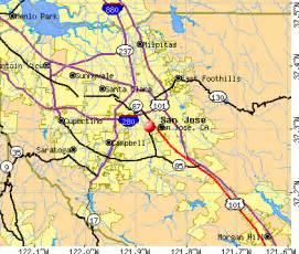 Map San Jose Ca by San Jose California Map