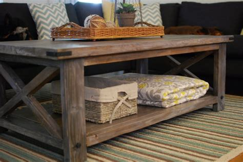 Rustic Coffee Table Diy White Rustic X Coffee Table Diy Projects