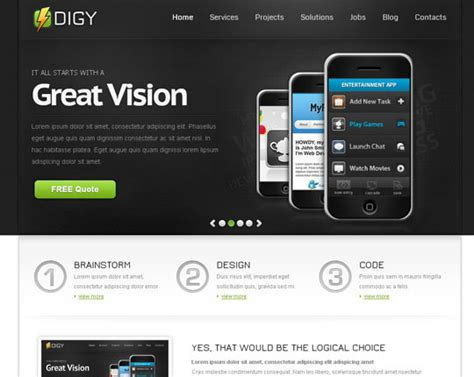 html5 site template 50 free html5 css3 responsive website templates
