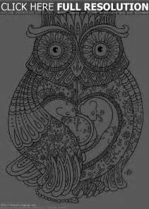 owl coloring pages for adults kidscolouringpages org