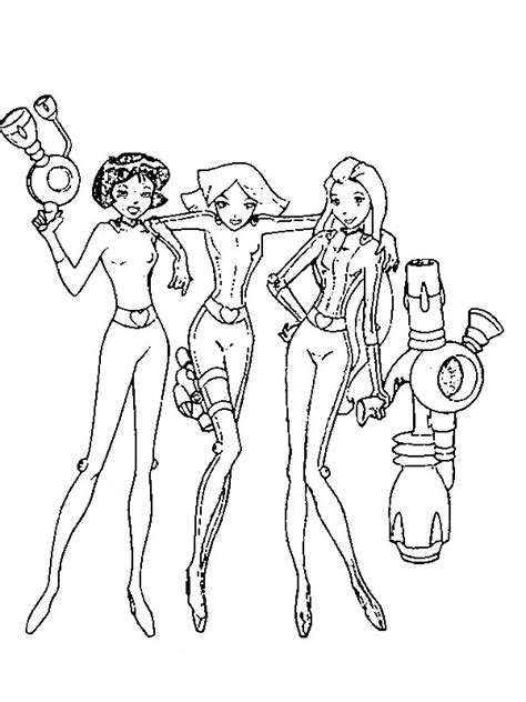 totally spies coloring pages learn to coloring