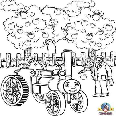 Kids Free Online Coloring Pages Thomas Train Printable Tree Farm Coloring Pages