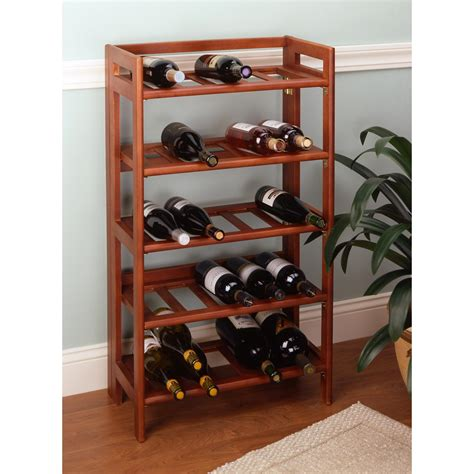 home wine storage accentuate your home with a wood wine rack