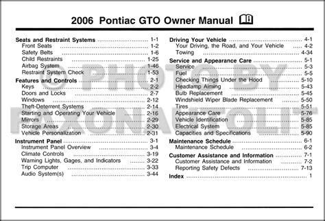 car repair manual download 2005 pontiac gto engine control service manual free owners manual for a 2006 pontiac gto pontiac gto owners manual 2004 2006