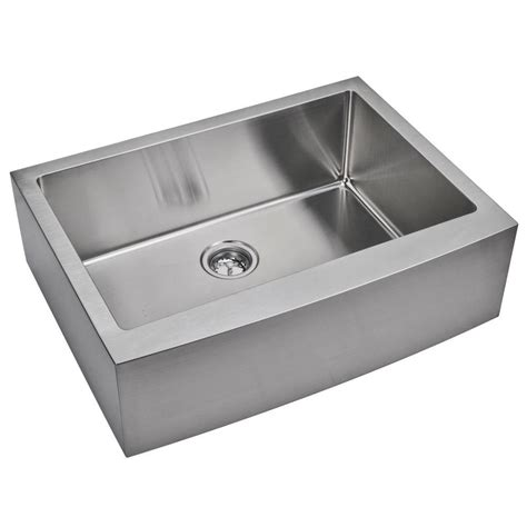 small stainless steel kitchen sinks water creation farmhouse apron front small radius stainless steel 30 in single basin kitchen