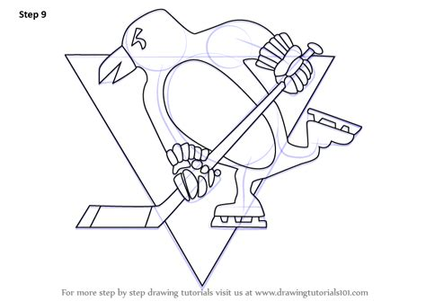 learn how to draw pittsburgh penguins logo nhl step by