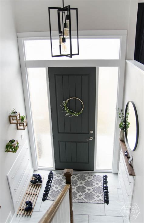 bathroom best front door shoe storage ideas on pinterest for a diy split level entry makeover before after lemon