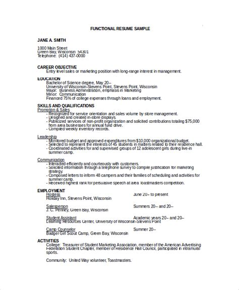 Entry Level Resume Objective by 10 Sle Objectives For Resume Sle Templates