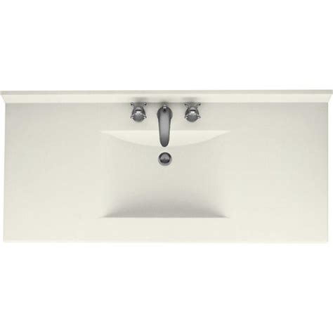 Swanstone Vanity Tops by Swanstone Contour 43 In Solid Surface Vanity Top With