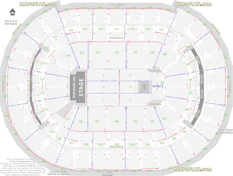 Verizon Center Floor Plan | washington dc verizon center detailed seat row numbers
