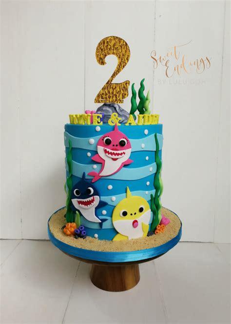 baby shark fondant baby shark 2d cake by lulu goh cakesdecor