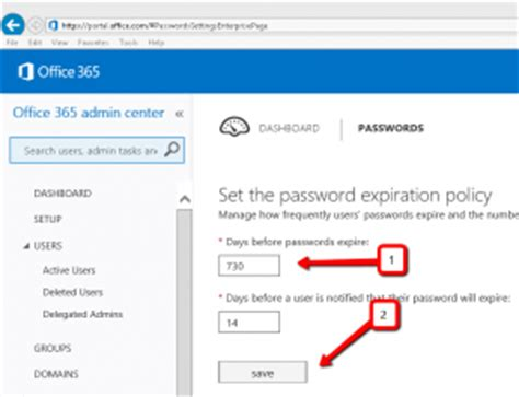 tip 206 change the password expiration policy on