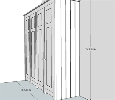 Built In Wardrobe Dimensions by Design Drawings In 3d By Henderson Furniture