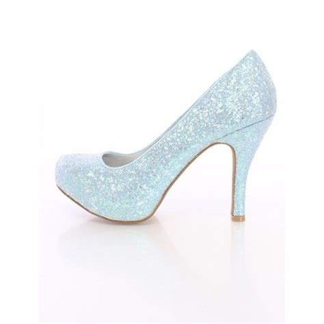 light blue high heel shoes light blue closed toe heels glitter liked on polyvore