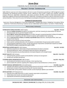 Railroad Officer Sle Resume by Railroad Resume Exle Railway Operations Service Supervisor