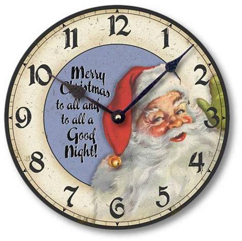 classic santa claus christmas clock fairy frecklescom