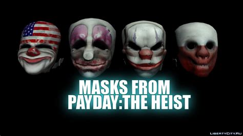 Topeng Payday Mask Payday 1 masks from payday the heist for gta san andreas