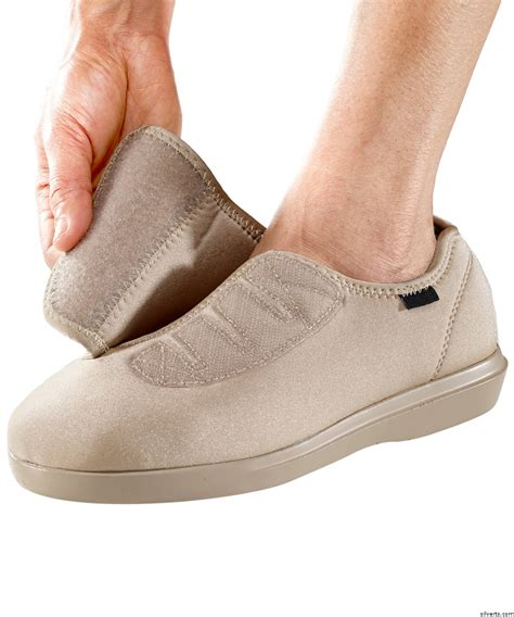shoes for swelling womens wide adjustable velcro 174 shoe slipper