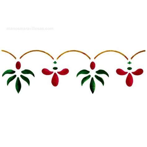 plantillas para cenefas manos maravillosas plantilla de estarcir cenefas flores