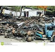 Scrap Iron Old Car Parts Junkyard Or Junk Yard Stock