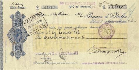 assegno d italia assegni