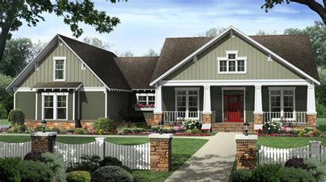 craftsman style house colors sage green white and brick red exterior paint schemes