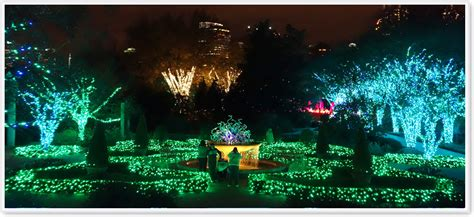 Atlanta Botanical Garden Christmas Lights Light Show Atlanta