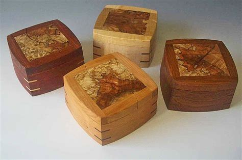 Handmade Wooden Boxes - decorative trinket boxes handcrafted of woods