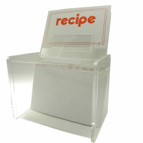 Acrylic Card Holder 4x6 Template by 4x6 Clear Recipe Card File Box By Huang Acrylic
