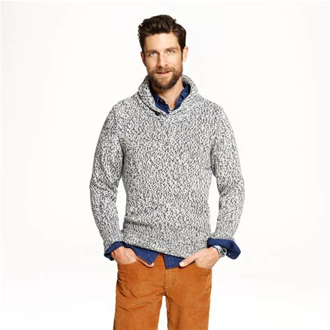 j crew sea clothing victory shawl sweater in blue