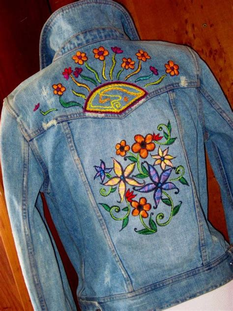 embroidery jacket 12 best embroidered jean jacket images on